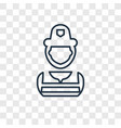 firefighter concept linear icon isolated on vector image vector image