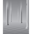 Foggy hall with columns vector image vector image
