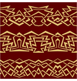 gold geometric seamless border vector image vector image