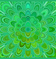 green abstract digital flower mandala art vector image vector image