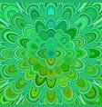 Green abstract digital flower mandala art vector image