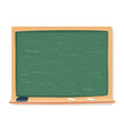 green blackboard chalk and eraser school vector image