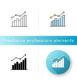 growing statistic icon vector image