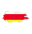 grunge brush stroke with south ossetia national vector image vector image