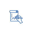 hand drawing graph line icon concept hand drawing vector image