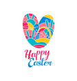 happy easter day logo creative template with vector image vector image