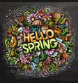 hello spring hand drawn cartoon doodles vector image vector image