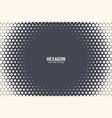 hexagonal halftone texture frame geometric vector image
