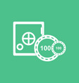 icon safe and chips vector image vector image