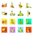 isolated object of healthy and vegetable symbol vector image