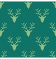 Knitted sweater with deer seamless pattern vector image vector image
