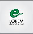 letter e logo vector image vector image