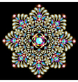 Mandala brooch jewelry design element vector image vector image