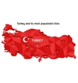Map of Turkey vector image