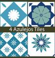 mediterranean azulejos set vector image vector image