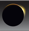 minimalist with a flare to the right solar eclipse vector image vector image
