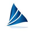 modern sail logo vector image