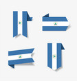 nicaraguan flag stickers and labels vector image vector image