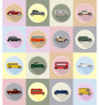 old retro transport flat icons 19 vector image vector image