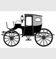 old style carriage vector image