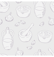 Outline aioli sauce seamless pattern background