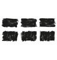 painted grunge banner set black labels vector image