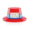 party hat for birthday vector image vector image