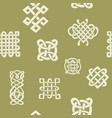 pattern with celtic art and ethnic ornament vector image vector image