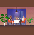 people in restaurant loving couple man vector image vector image