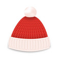 red knitted hat vector image vector image