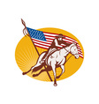 Rodeo cowboy horse riding vector image vector image