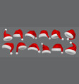 santa claus hat realistic christmas and new year vector image