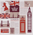 seamless background on theme of uk and london vector image vector image