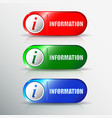 set of different information buttons for design vector image vector image