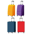 set of different luggage vector image