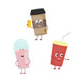 set of funny characters from drink vector image vector image