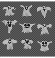 Set of halloween white ghosts with different vector image vector image