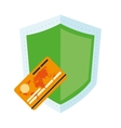 shield and credit card icon vector image vector image