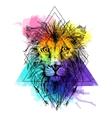 Sketch lion vector image