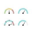 Speedometer icon set speed vector image