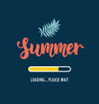 summer loading please wait vector image vector image