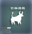 Taurus icon On the blue-green abstract background vector image vector image