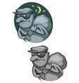 thief bandit in mask for criminal and law concept vector image