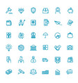thin line web icon set - money payments vector image vector image