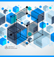 trendy geometric pattern textured abstract cube vector image vector image