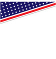 us abstract flag symbols corner border vector image