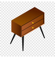 vintage night stand icon isometric style vector image vector image