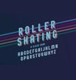 vintage roller skating font vector image vector image