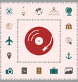 vinyl record turntable icon elements for your vector image vector image