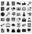 viral marketing icons set simple style vector image vector image